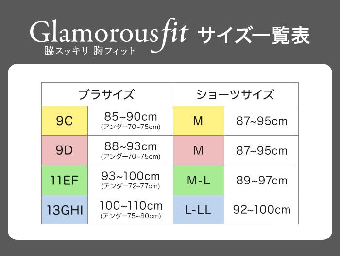 Glamorousfitサイズ表