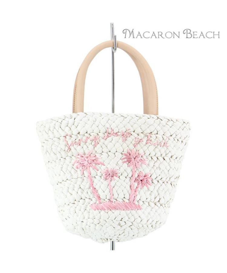 【MACARON BEACH】パームツリー刺繍 ミニトート