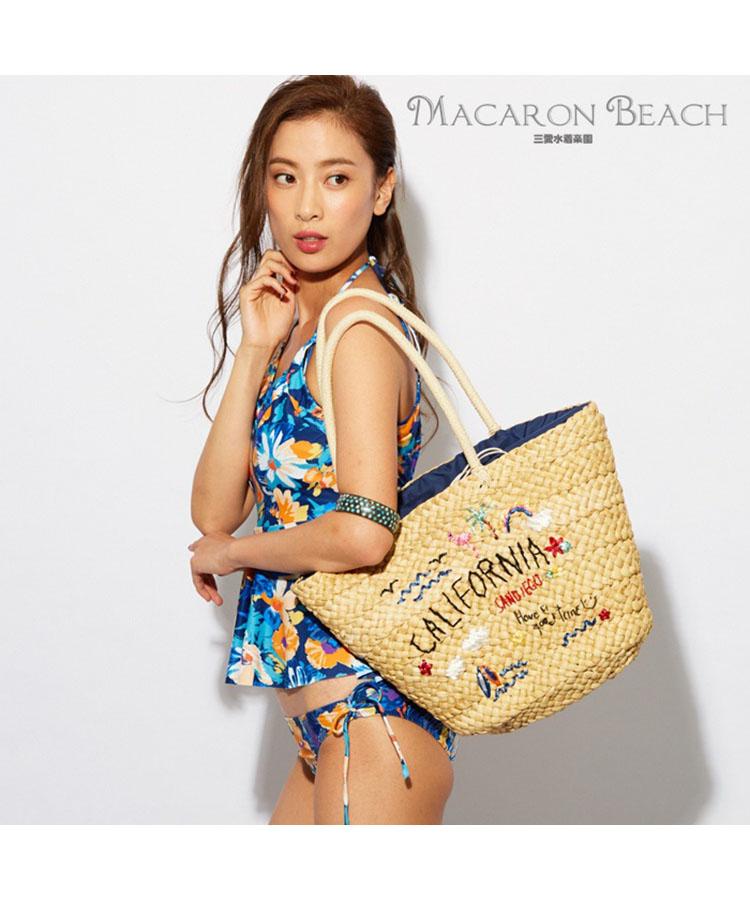 【MACARON BEACH】モチーフ刺繍 トート