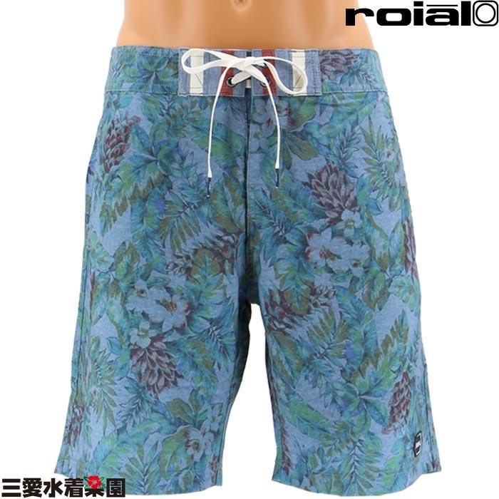 【ROIAL】CROSSFADE メンズ フラワー柄ボードショーツ M/L/XL