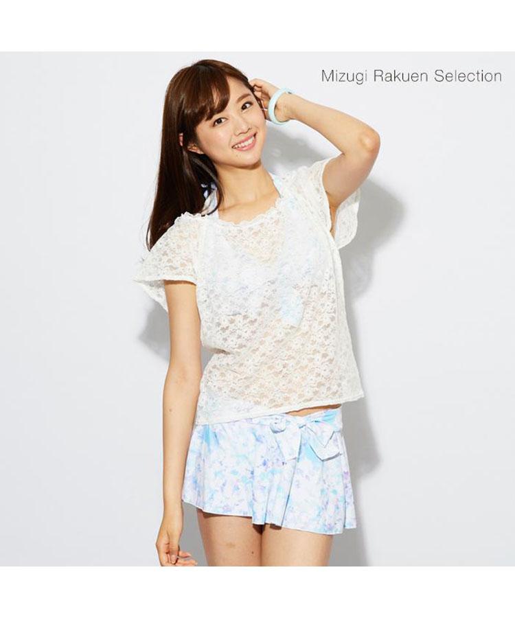 【Mizugi Rakuen Selection】グラデーションフラワー 4点セット水着 7号/9号/11号