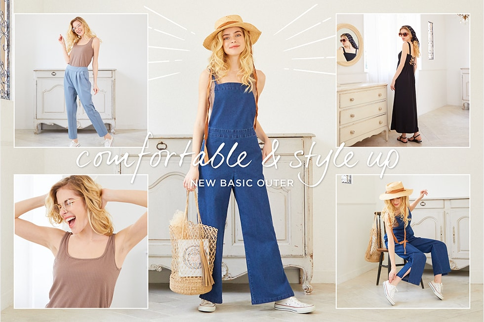 comfortable & style up NEW BASIC OUTER