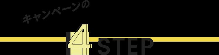 キャンペーンの4STEP